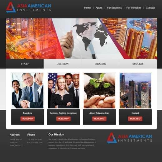 Tulsa Web Design - Asia American Investments