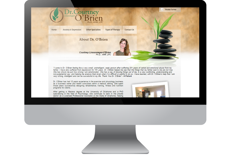 Tulsa Web Design - Dr. Courtney O'Brien
