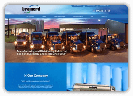 Tulsa Web Design - Brainerd Chemical Company