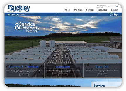 Midlothian Web Design - Buckley Oil