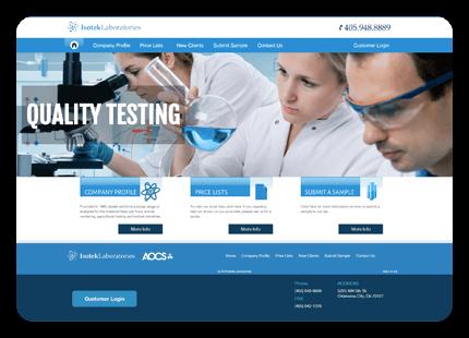 Tulsa Web Design Services - Isotek Laboratories