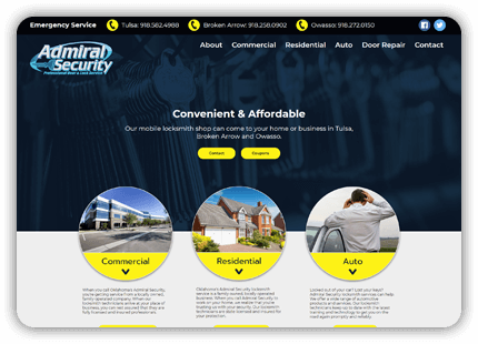 Tulsa Web Design - Admiral Security
