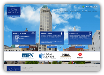 Tulsa Web Design - Kivell, Rayment & Francis, P.C.