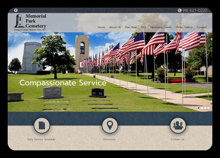 Tulsa Web Design - Memorial Park Cemetery